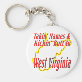 West Virginia - Kickin' Butt Keychain