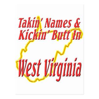 West Virginia - Kickin' Butt Postcard