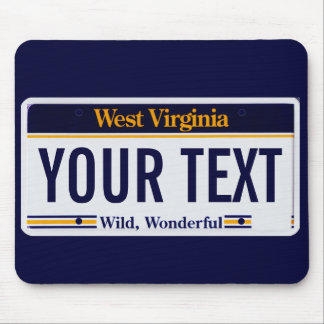 West Virginia license plate mouse pad