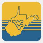 West Virginia Logo in State Square Sticker