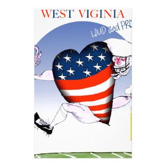 west virginia loud and proud, tony fernandes stationery