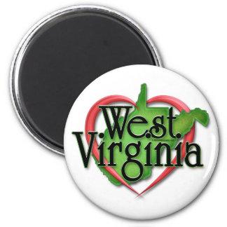 West Virginia Love Hug 2 Inch Round Magnet