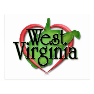 West Virginia Love Hug Postcard