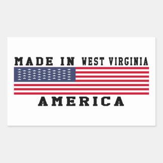 West Virginia Made In Designs Rectangular Sticker