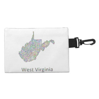 West Virginia map Accessories Bags