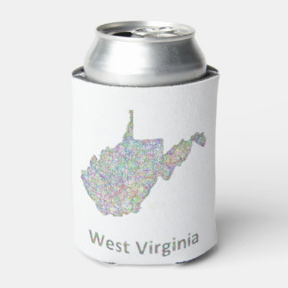 West Virginia map Can Cooler