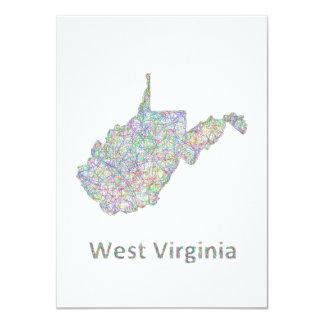West Virginia map Card