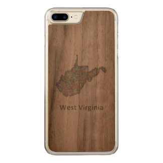 West Virginia map Carved iPhone 7 Plus Case