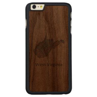 West Virginia map Carved Walnut iPhone 6 Plus Slim Case