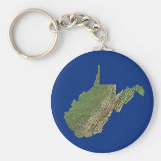 West Virginia Map Keychain