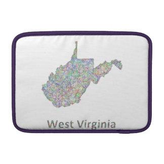 West Virginia map Sleeve For MacBook Air
