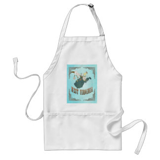 West Virginia Map With Lovely Birds Adult Apron
