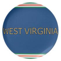 West Virginia Melamine Plate