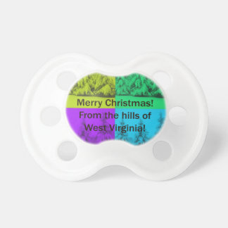West Virginia Merry Christmas Tree Collage BooginHead Pacifier