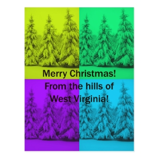 West Virginia Merry Christmas Tree Collage