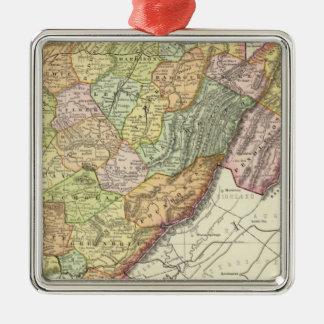 West Virginia Metal Ornament