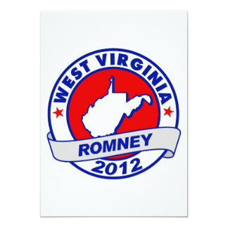 West Virginia Mitt Romney 5x7 Paper Invitation Card