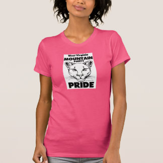 """West Virginia Mountain Party Pride"" woman's T-Shirt"