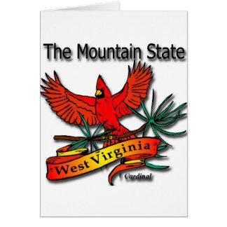 West Virginia Mountain State Cardinal Cards