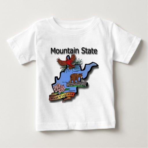 West Virginia Mountain State Cardinal Bear Rhodode Shirts