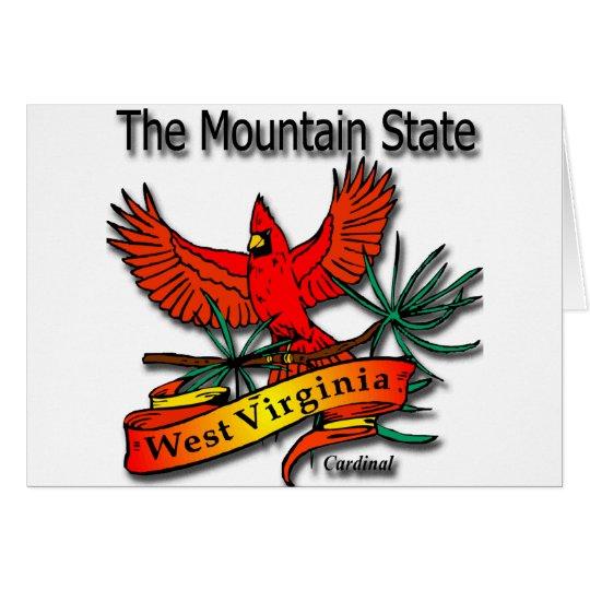 West Virginia Mountain State Cardinal Card
