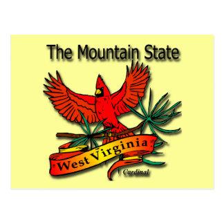 West Virginia Mountain State Cardinal Post Card