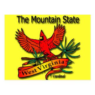West Virginia Mountain State Cardinal Postcards