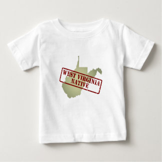 West Virginia Native Stamped on Map Baby T-Shirt