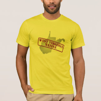 West Virginia Native Stamped on Map T-Shirt