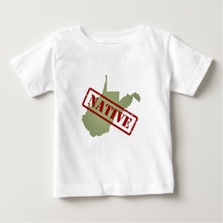 West Virginia Native with West Virginia Map Baby T-Shirt