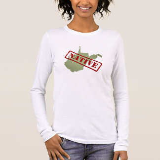 West Virginia Native with West Virginia Map Long Sleeve T-Shirt