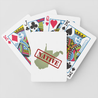 West Virginia Native with West Virginia Map Playing Cards