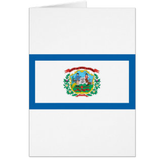 West Virginia  Official State Flag Card