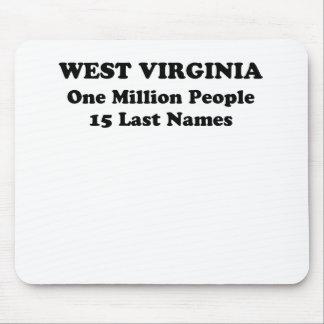 West Virginia one million people 15 last names Mouse Pad