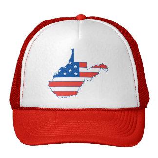 West Virginia Patriotic Hat Mesh Hats