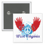 West Virginia Peace Sign Buttons