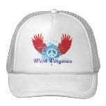 West Virginia Peace Sign Mesh Hat