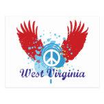 West Virginia Peace Sign Postcard