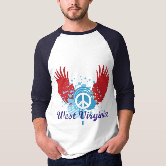 West Virginia Peace Sign T-Shirt