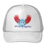 West Virginia Peace Sign Trucker Hat