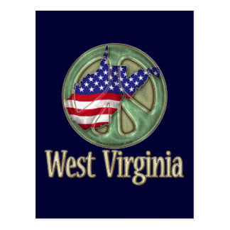 West Virginia Peace State Postcard