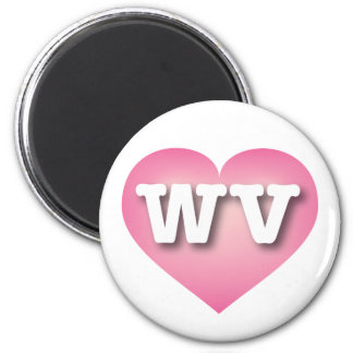 West Virginia Pink Fade Heart - Big Love Magnet