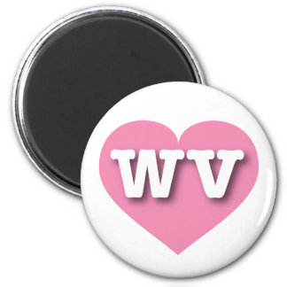 West Virginia Pink Heart - Big Love Magnet
