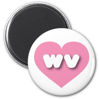 West Virginia pink heart - mini love Magnet