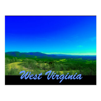 west virginia post card