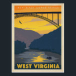 "West Virginia Postcard<br><div class=""desc"">Anderson Design Group is an award-winning illustration and design firm in Nashville,  Tennessee. Founder Joel Anderson directs a team of talented artists to create original poster art that looks like classic vintage advertising prints from the 1920s to the 1960s.</div>"