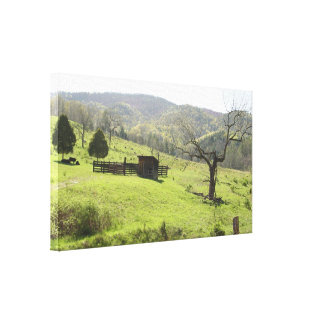 West Virginia ranch Stretched Canvas Print