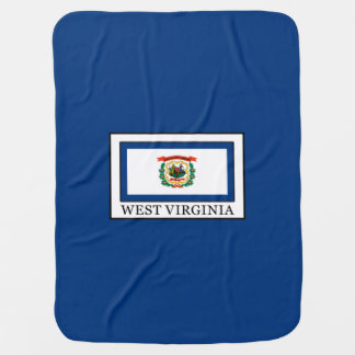 West Virginia Receiving Blanket
