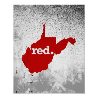 WEST VIRGINIA RED STATE POSTER