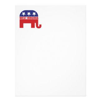 West Virginia Republican Elephant Custom Letterhead